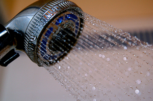 shower water pressure of a shower head