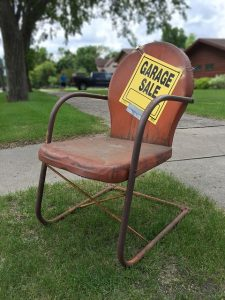 garage sale for clutter free home